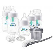 Set de teteros Avent Anti-Cólico clear