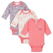 Baby Girl Onesies Bodysuits - pack x3