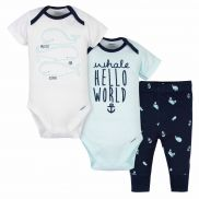 Baby Boys Under The Sea Bodysuits and Pant Set x3