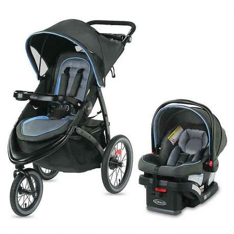 Graco FastAction Jogger LX- black and blue