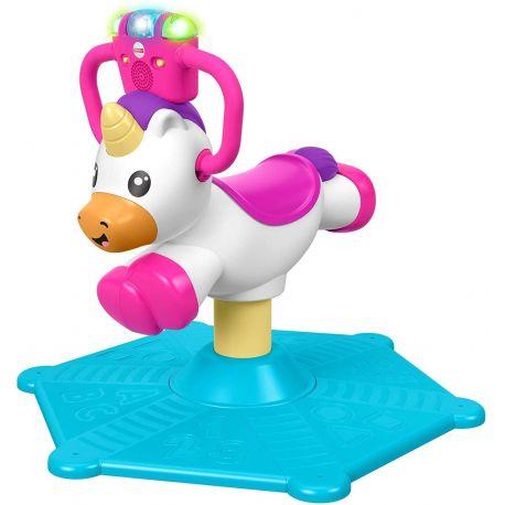 Fisher-Price rebota y gira-unicornio